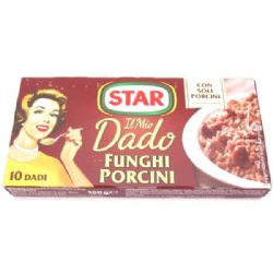 Star Porcini Mushroom Stock Cubes | Funghi | Dado | Buy Online | Italian Ingredients | UK